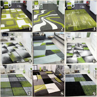Grey and Green Rug Quality Modern Rugs Patterned Floor Carpet Mat Small Large XL