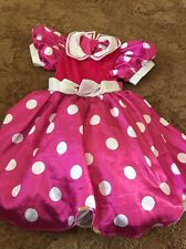 Girls Minnie Mouse  Dressing Up Fancy Dress Outfit From Disney store