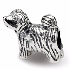 Sterling Silver Reflections Puppy Bead QRS257