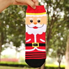 Christmas Women Winter Warm Cotton Socks Santa Claus Reindeer Snowman Bear Gifts