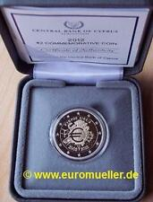 Zypern  2 Euro Gedenkmünze  2012  10 Jahre Bargeld  -  PP  -  in Box