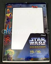 Star Wars Desktop Stationery Kit Mead Yoda C-3PO 15 Sheets 16 Envelopes 1996 NIP