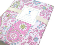 Pottery Barn Kids Pink Brooklyn Floral Flower Paisley Full Queen Duvet Cover New