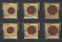 O PAAPE So St Paul MINN GOOD FOR 5 + 25 + 50 Cents Red Fiber Octagon Tokens (3)