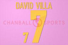 David Villa #7 EURO 2012 Italy Homekit Nameset Printing