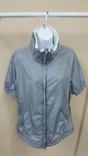 Sunice Sport X20 Gray Short Sleeve Lightweight Wind Golf Top Jacket Womens Xl