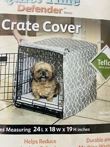 """Midwest Quiet Time Crate Cover Defender Series Gray White 24"""" x 18"""" x 19"""" New"""