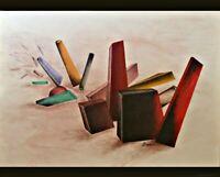 "Eames Era Geometric Painting - 28"" x 22"" x 3/4"""