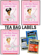 15 PRINCESS BABY SHOWER TEA BAG LABELS - PERSONALIZED