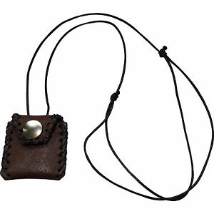 Brown Leather Passport Photo Picture Locket Pendant Chain Necklace Mens Womens