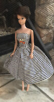 Barbie Bubblecut Brunette, Midge-Barbie Body, 1962, Wearing Cotton Casual #912