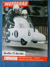 Zeitschrift Das Motorrad 1961 Nr. 14 - Yamaha 125ccm, Rumi Vierzylinder, TT 1961