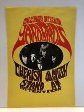 THE YARDBIRDS 2012 Gig POSTER Portland Oregon Concert