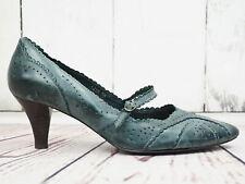 BELMONDO ☘ Damen Pumps Gr. 38 Damen Leder Pastelblau Schuhe Shoes High Heels