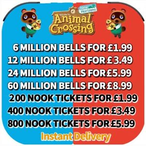 Animal Crossing:New Horizons Bells, Nook Miles Tickets, Materials Fast Delivery