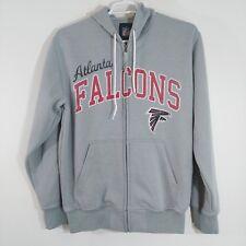 72f06c613 Atlanta Falcons Hoodie NFL Large Classic Hooded Full Zip Sweatshirt Light  Grey
