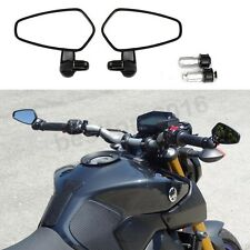 Black Motorcycle Bar End Rear View Side Mirrors For Kawasaki Z900 Z800 Z750 Z250