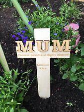 Personalised MUM Memorial Remembrance Cross Funeral