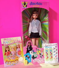 TAKARA BARBIE JENNY SUPER ACTION DOLL '81 WHITE JACKET BLACK SKIRT WHITE BOOTS
