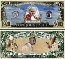 Le PAPE JEAN PAUL II BILLET DOLLAR US ! Collection RELIGION Catholique Vatican 2