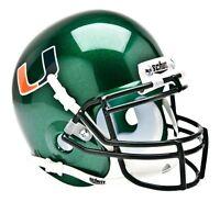 Miami Hurricanes Alternate Green Schutt NCAA College Authentic Mini Helmet