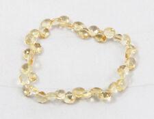 Natural CITRINE faceted tear drop elastic stretch bracelet / bead / strand