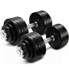105 Lb Pair Adjustable Weight Dumbbells Set FREE SHIPPING!