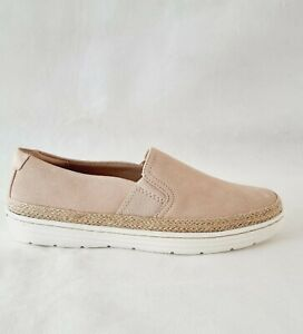 Clarks Womens Marie Sail Closed Toe Loafers Blush Suede Shoes Size 5 UK D New