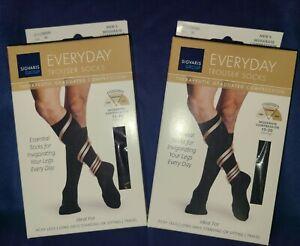 (2) Sigvaris Everyday Trouser Socks Therapeutic Graduated Compression (Medium)