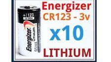 X10 Cr123a Energizer Lithium Batteries