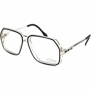 Cazal Eyeglasses MOD.625 COL.163 Black & Clear/Silver Frame Germany 56[]17 140