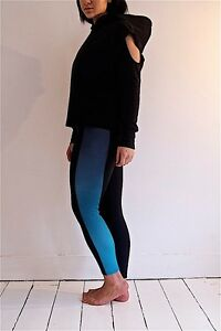 Fade to jade leggings  black and jade green ombre fade out panel gym apparel