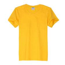 Mens Plain T Shirts Solid Cotton Short Sleeve Basic Tee Top Shirts M-3XL