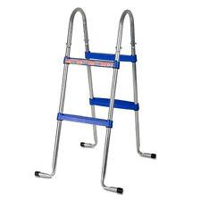 Gre Sicherheitsleiter 2x2 Stufen Poolleiter Schwimmbecken Aufstellbecken Stahl