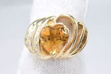 Women's Citrine & Diamond 2.68 ct Gemstone Cocktail Ring in Solid 14k Gold