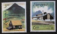 Europa, Post Office buildings stamps, 1990, Faroe Islands, SG ref: 193 & 194 MNH