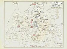 WW2 War In Eastern Europe German/Russian Dispositions 1941-1945 - (23) Maps Vint