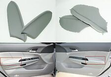2008-2012 Honda Accord Gray Leather LH & RH Armrest Covers New Free Shipping