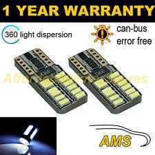 2x W5w T10 501 Canbus Error Free Blanco 24 Smd Led lado Repetidor bombillas sr103801