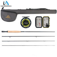 Maxcatch 5/6wt Fly Fishing Combo,9' 4-piece Rod and Avid Pre-spooled Reel Outfit