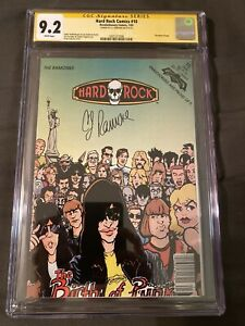Hard Rock Comics #10 Revolutionary - The Ramones! CGC 9.2 SS CJ Ramone signed!