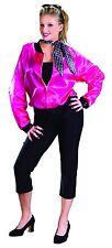 Pink Ladies 50's Outfit 3 Piece Fuchsia & Black Jacket Capri Pants & Scarf Plus