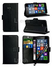 Apple iPhone 7 (4.7 inch) - Carbon Fibre Effect Wallet Case Cover & Stylus Pen