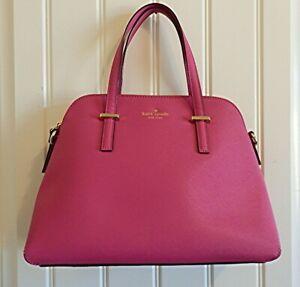 Kate Spade New York Pink Saffiano Leather Purse Satchel Handbag