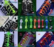 Reflective 3M Elastic Lock Laces UK No Tie Safety Easy Adjustable Shoelaces