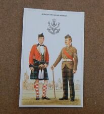 Military Uniforms Postcard Queens Own Highlanders unposted