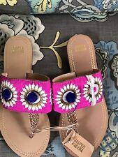 Jasper & Jeera Anthropologie Embroidered Slides Sandals 36/6
