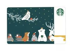 Starbucks Gift card Xmas 2019 Thailand Pin intact with sleeve/plastic envelop