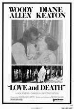 LOVE AND DEATH Movie POSTER 27x40 Woody Allen Diane Keaton Georges Adel Despo