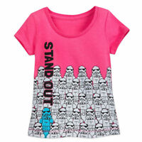 """Disney Store Star Wars Stormtrooper """"Stand Out"""" T Shirt Size 5/6 7/8 10/12 14"""